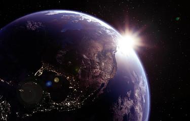 Weltall Erde