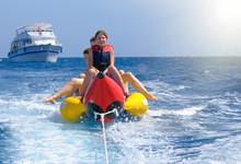 Riding On A Banana Boat