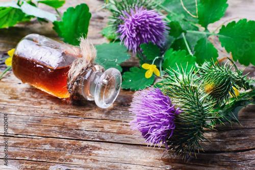 Carta da parati Flower and burdock extract