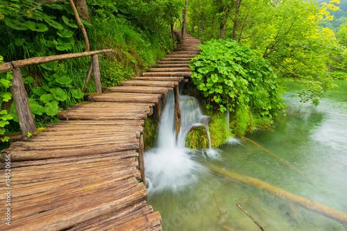 plakat Plitvice lakes park in Croatia.