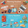 Planning Luxury Vacation Concept