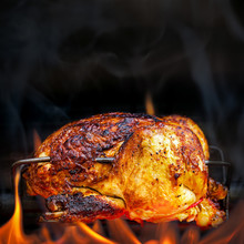 Rotisserie Chicken Cooking Ove...