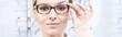 Leinwanddruck Bild - Perfect glasses, perfect vision