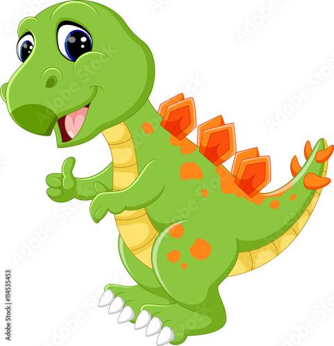 Photo  Cartoon cute dinosaur