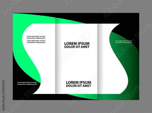 business tri fold flyer template corporate brochure or cover design