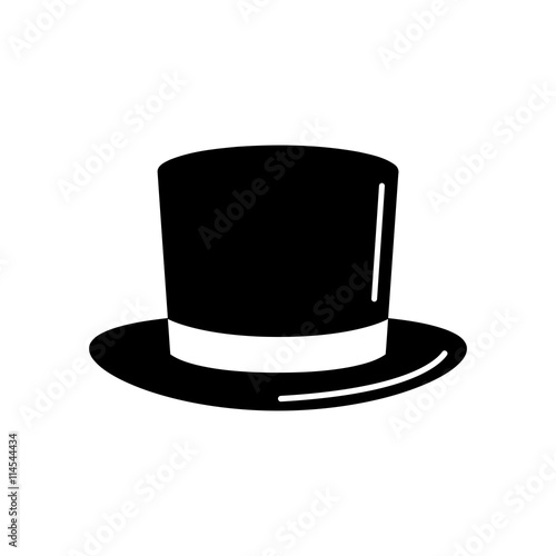 61eb1834c4685f Magic top hat or high hat flat icon for apps and websites Design ...