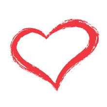 Grunge Red Heart Shape, Valent...