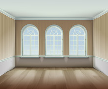 Room With  Arched Windows Illu...