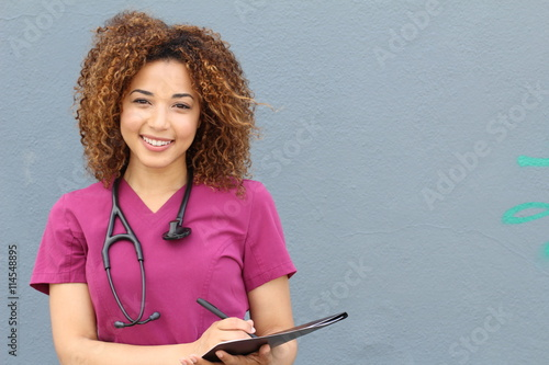 Female who is going to nursing school Canvas