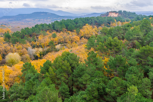 Poster de jardin Parc Naturel Fall landscape near Roussillon, Provence, France