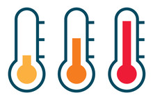 Three Vector Thermometer Showi...