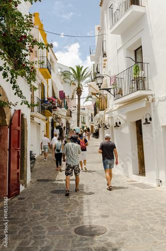 Rue à Ibiza, Espagne, Baléares