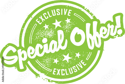 Fotografía  Special Offer Rubber Stamp