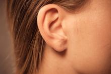 Close Up On Female Ear