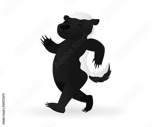 Tablou Canvas Proud strutting honey badger