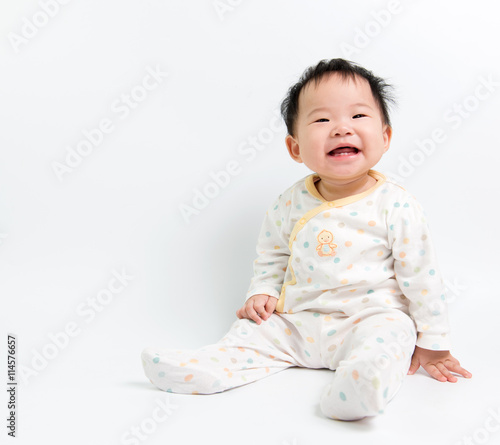 obraz PCV Asian baby girl