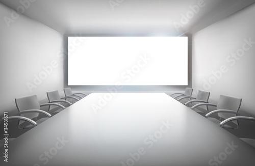 Foto op Plexiglas Wand Conference room. Vector illustration.