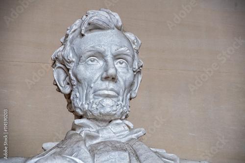 Fotografia  Lincoln statue at Memorial in Washington DC