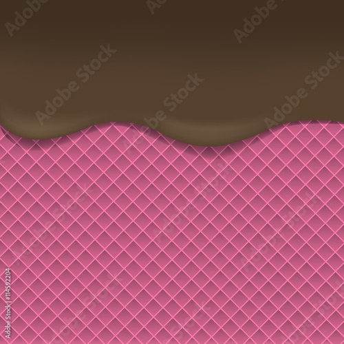 Garden Poster Light pink Pink Wafer background