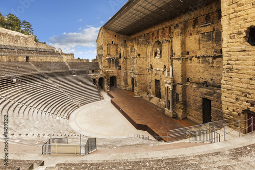 Foto op Canvas Artistiek mon. Roman Amphitheatre at Orange