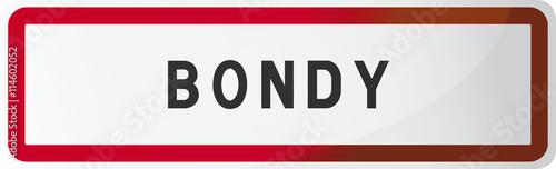 Panneau Bondy : Seine Saint-Denis - 93 - Ville d'Ile-de-France Canvas Print