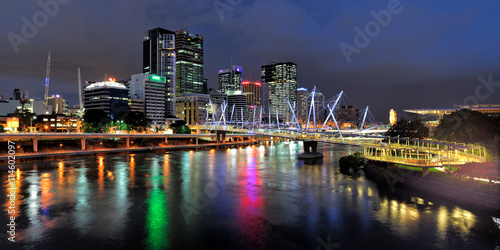 fototapeta na lodówkę Australia Landscape : Kurilpa Bridge of Brisbane