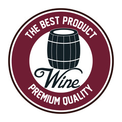 Panel Szklany Wino seal of quality wine isolated icon design, vector illustration graphic
