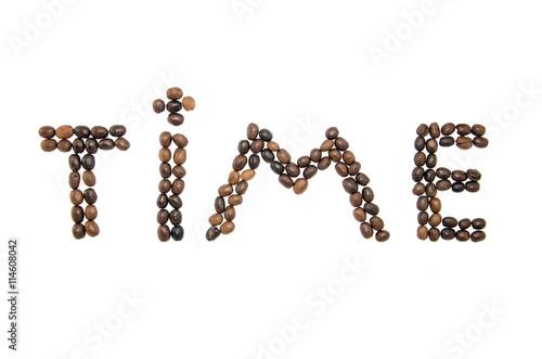 Papiers peints Café en grains The word from coffee grains.Espreso. Americano. Cappuccino. Latte.