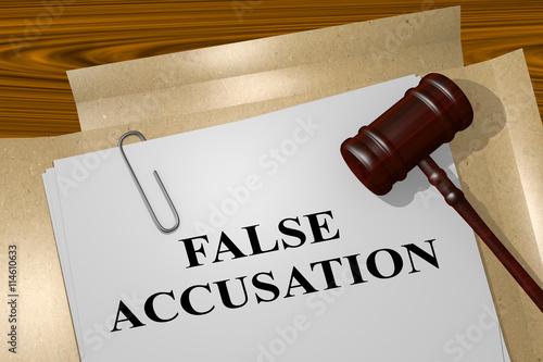 False Accusation legal concept Wallpaper Mural