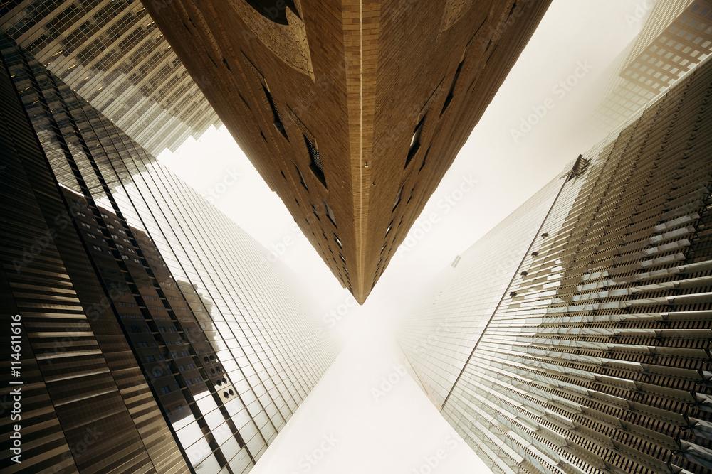 Fototapety, obrazy: New York City downtown fog