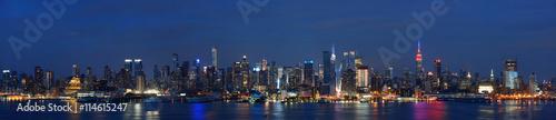 Fototapety, obrazy: Manhattan midtown skyline at night