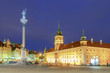 Warsaw. Old Town Square at night.