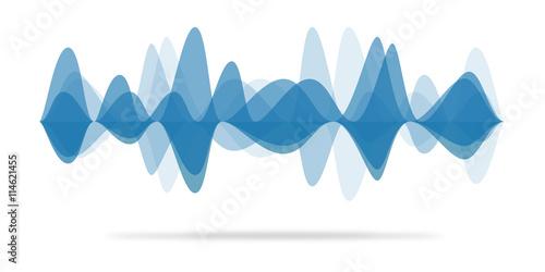 Audio waveform Wallpaper Mural