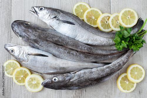 Foto op Aluminium Vis Raw Cod Fish