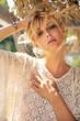Leinwanddruck Bild - Portrait of a beautiful sensual blonde woman