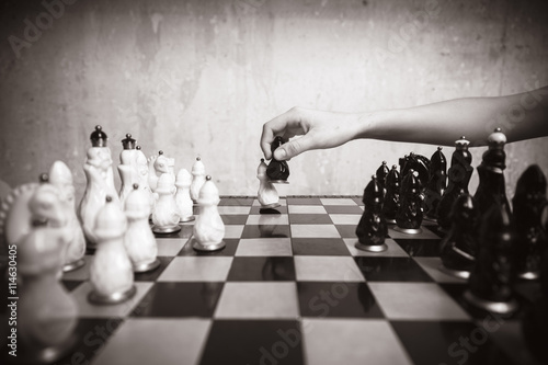Photo  Playing chess