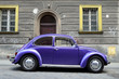 Classic car on the street European city