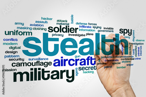 Photo  Stealth word cloud
