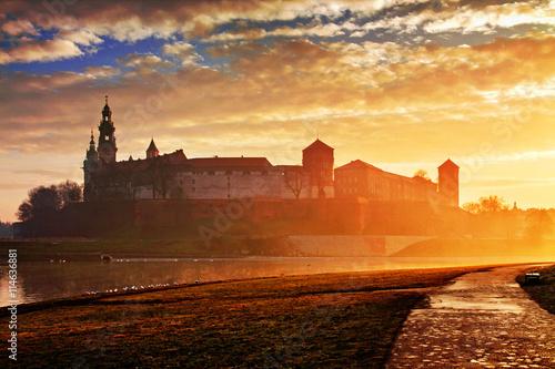 Fototapeta Wawel hill with castle in Krakow obraz
