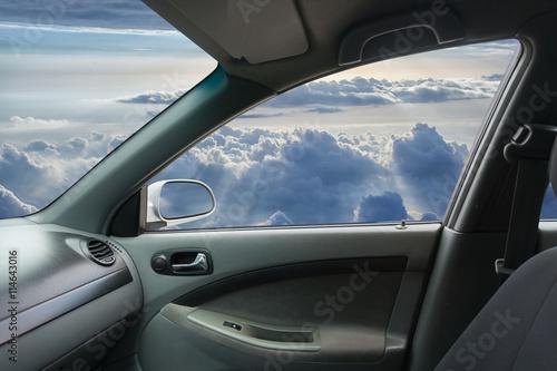 Spoed Foto op Canvas Stadion Interior of fly car