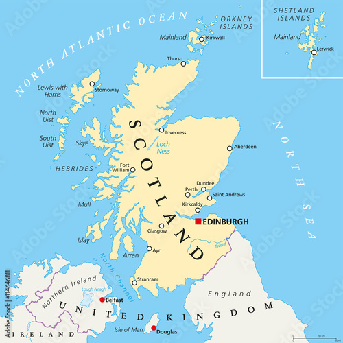 Map Of England Edinburgh.Independent Scotland Political Map With Capital Edinburgh National