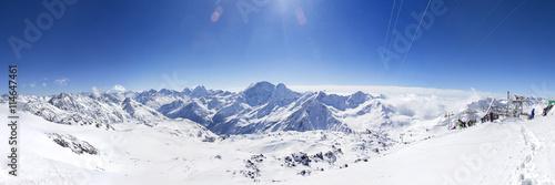 Fotografie, Tablou Горы Кавказа. Вид на гору Чегет