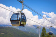 cable car in the scenic mountains