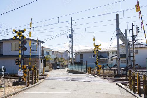 Foto op Plexiglas A railway station at Kawaguchiko