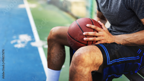 Fotografie, Obraz Basketball Athlete Ball Sport League Skill Player Concept