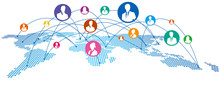 World Map Social Networking Se...
