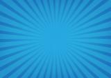Sun rays vector, sunburst on blue color background.