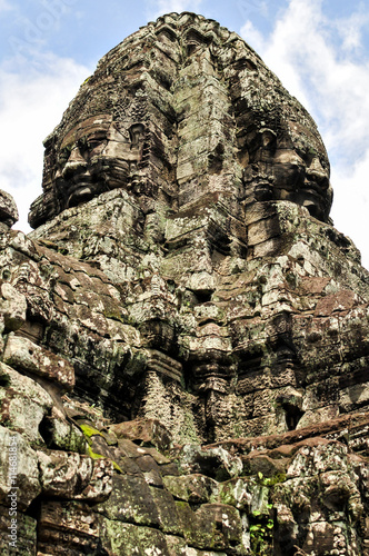 Bayon Temple in Angkor, Siem Reap, Cambodia Canvas Print