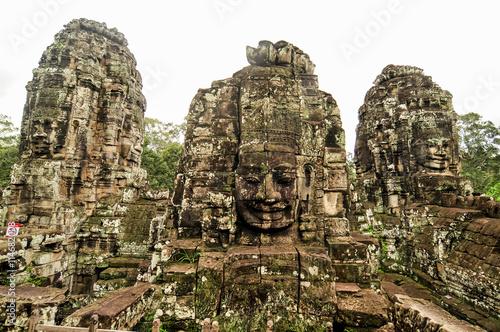 Bayon Temple in Angkor, Siem Reap, Cambodia Canvas Print