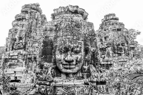 Photo  Bayon Temple in Angkor, Siem Reap, Cambodia
